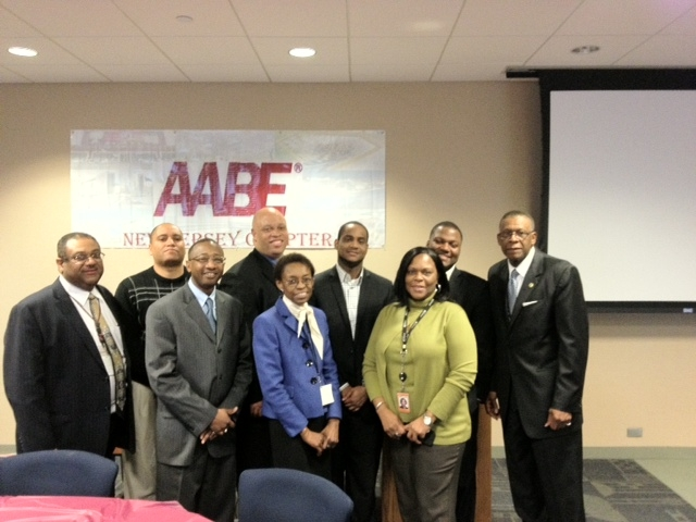 The AABE NJ Chapter with NY Chapter Bill Suggs and AABE National President Arnetta McCrae (NSBE Students were also in attendance)