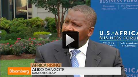 Mr. Aliko Dangote, reportedly the richest man in Africa regarding the summit